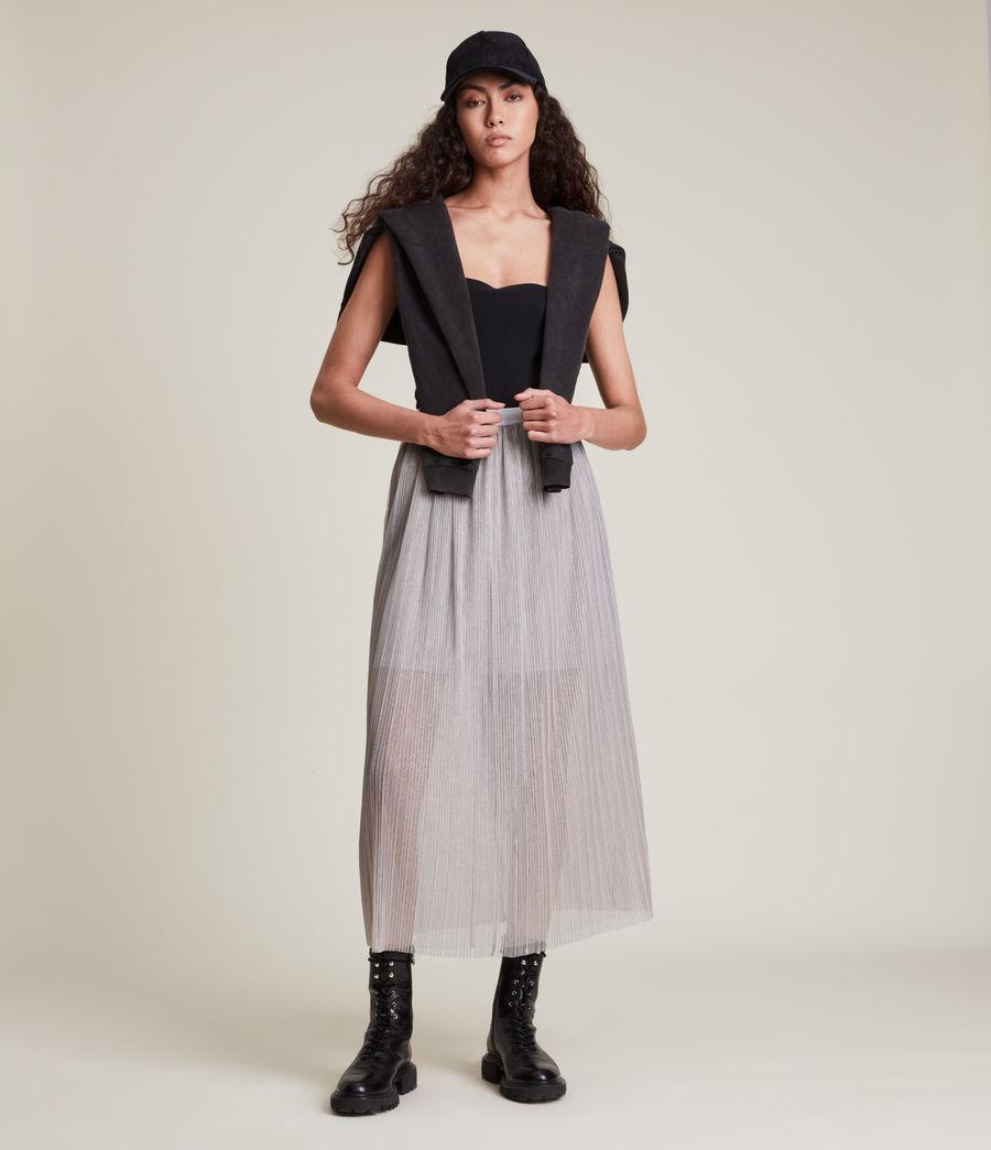 Womens Dina Skirt (shimmer_grey) - Image 5