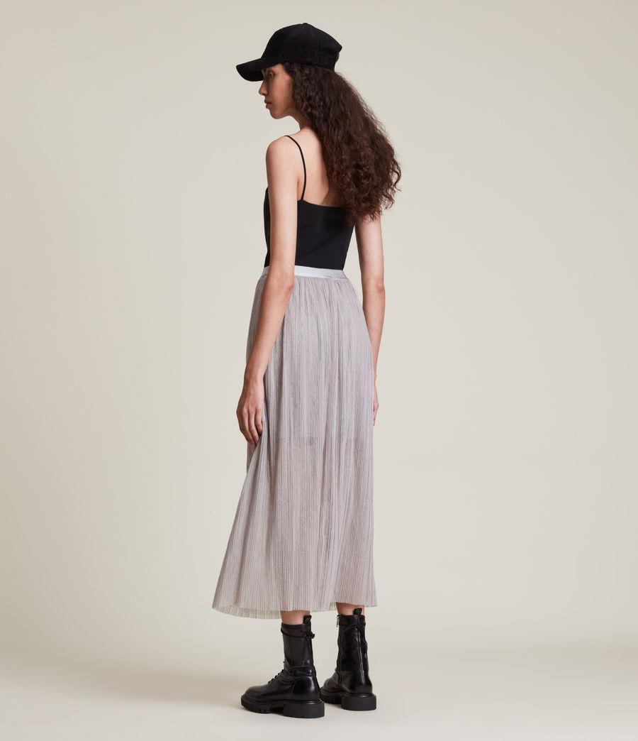 Womens Dina Skirt (shimmer_grey) - Image 6