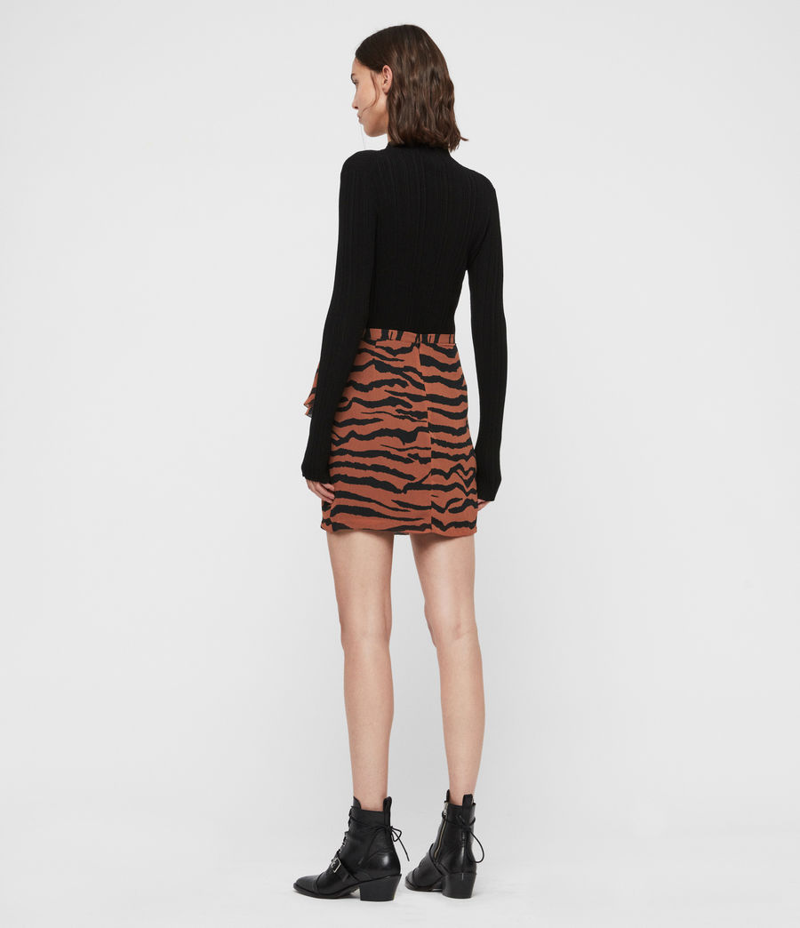 Women's Pia Zephyr Skirt (toffee_brown_black) - Image 4