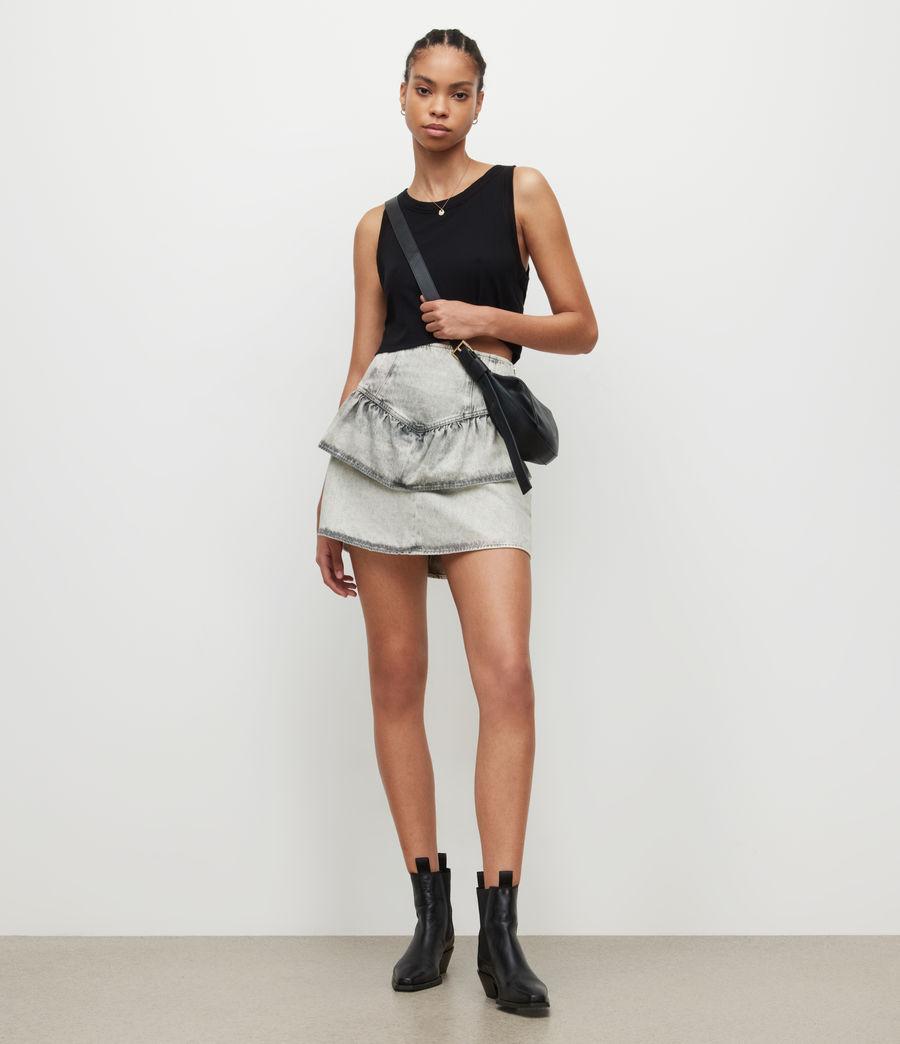 Womens Andy Denim Skirt (snow_wash_grey) - Image 1