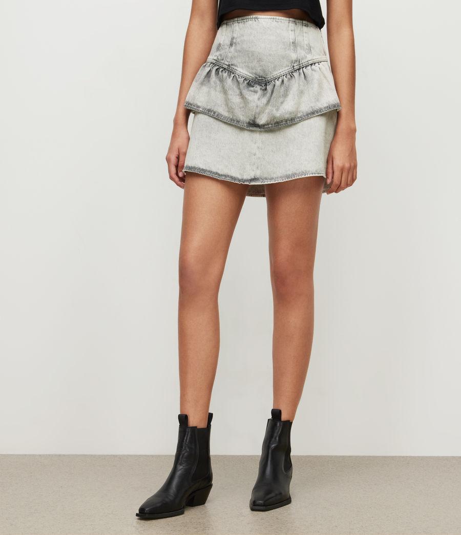 Womens Andy Denim Skirt (snow_wash_grey) - Image 2