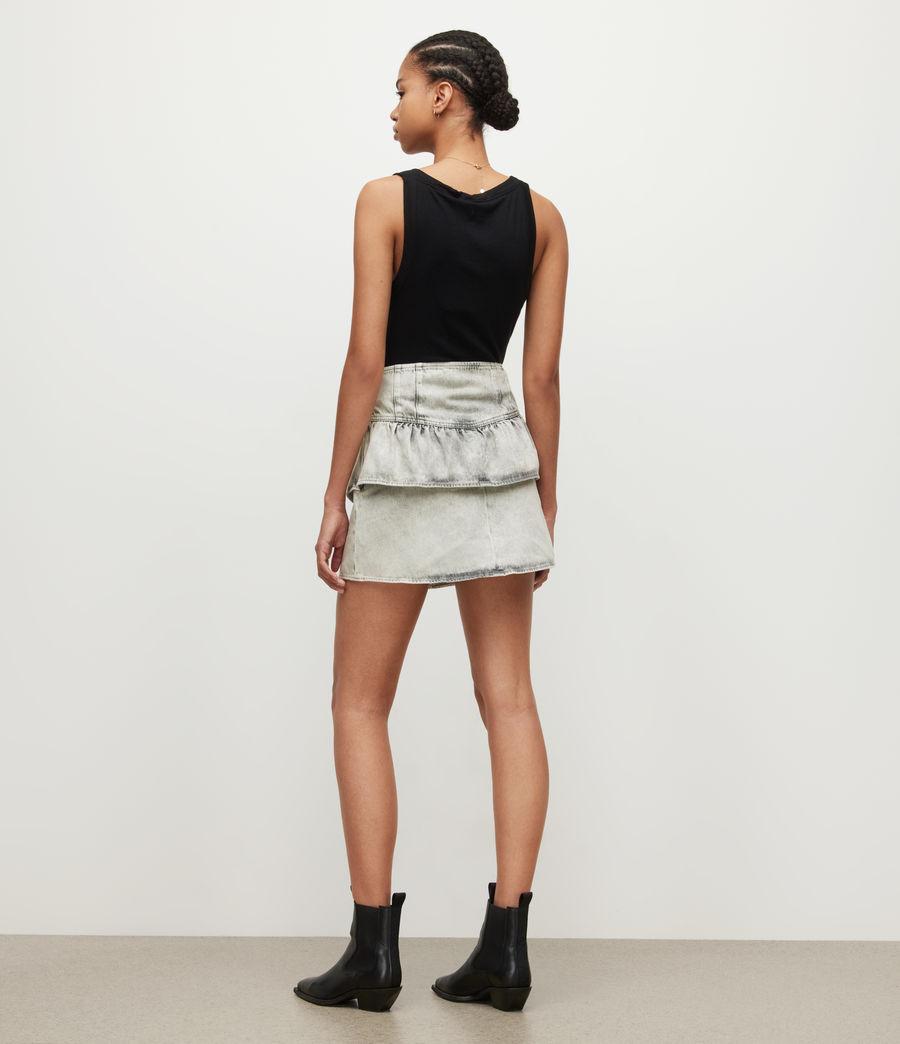 Womens Andy Denim Skirt (snow_wash_grey) - Image 5