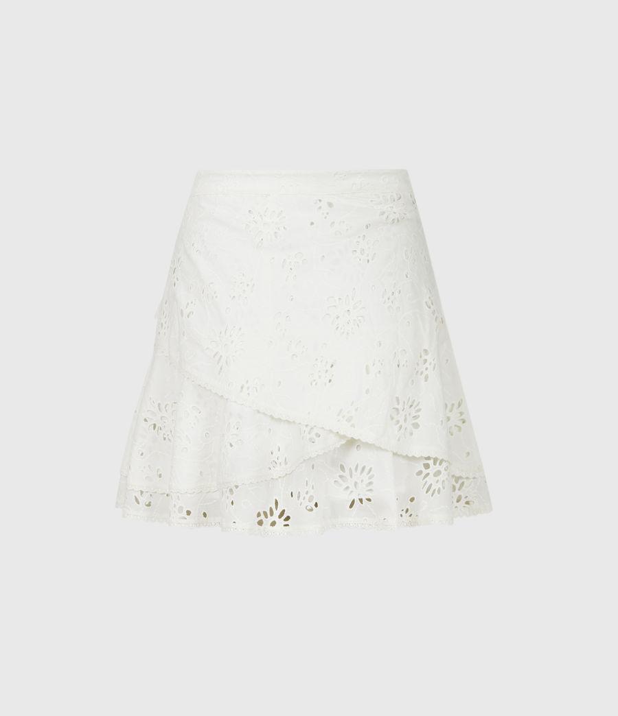 Womens Kasa Broderie Skirt (chalk_white) - Image 3