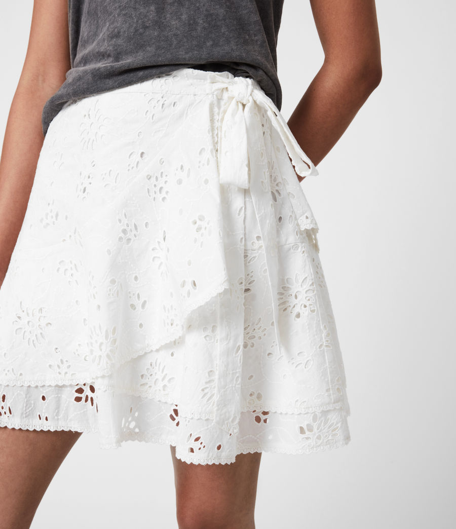 Womens Kasa Broderie Skirt (chalk_white) - Image 7