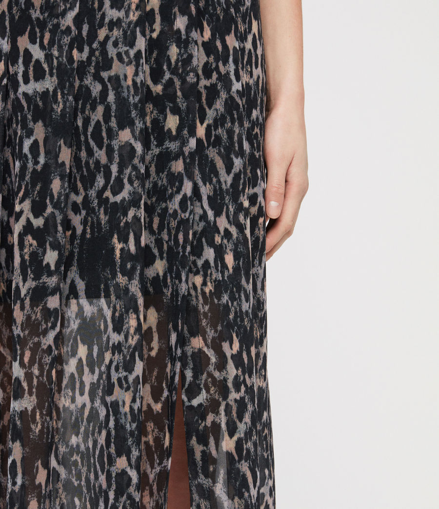 Women's Drea Leopard Skirt (grey) - Image 5