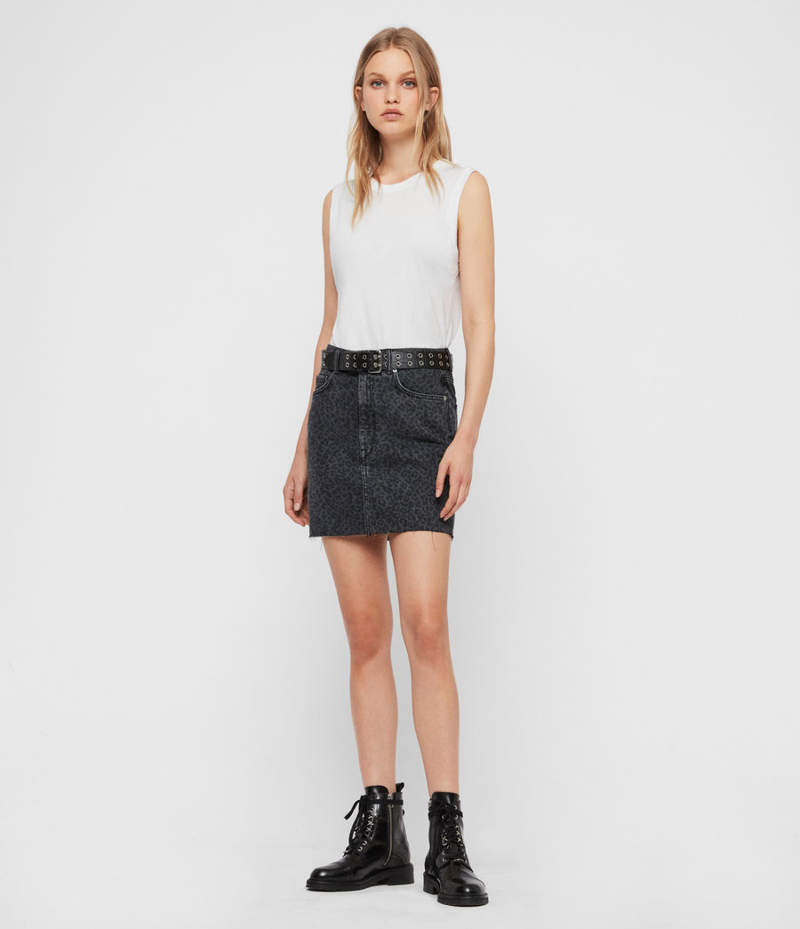 Women's Lila Leo Denim Skirt (washed_black) - Image 1