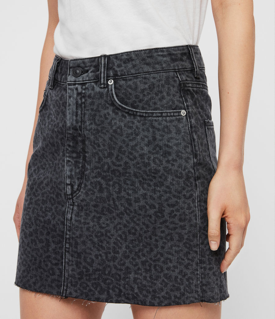 Women's Lila Leo Denim Skirt (washed_black) - Image 2