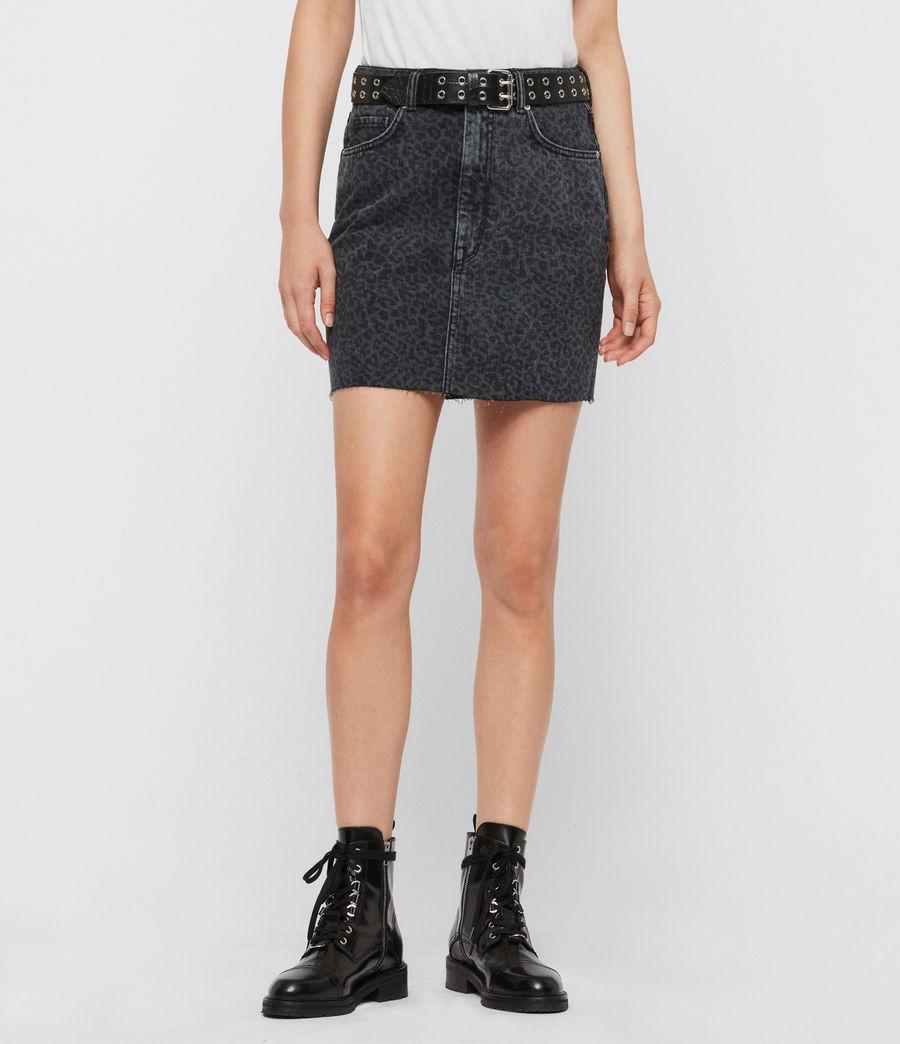 Women's Lila Leo Denim Skirt (washed_black) - Image 3