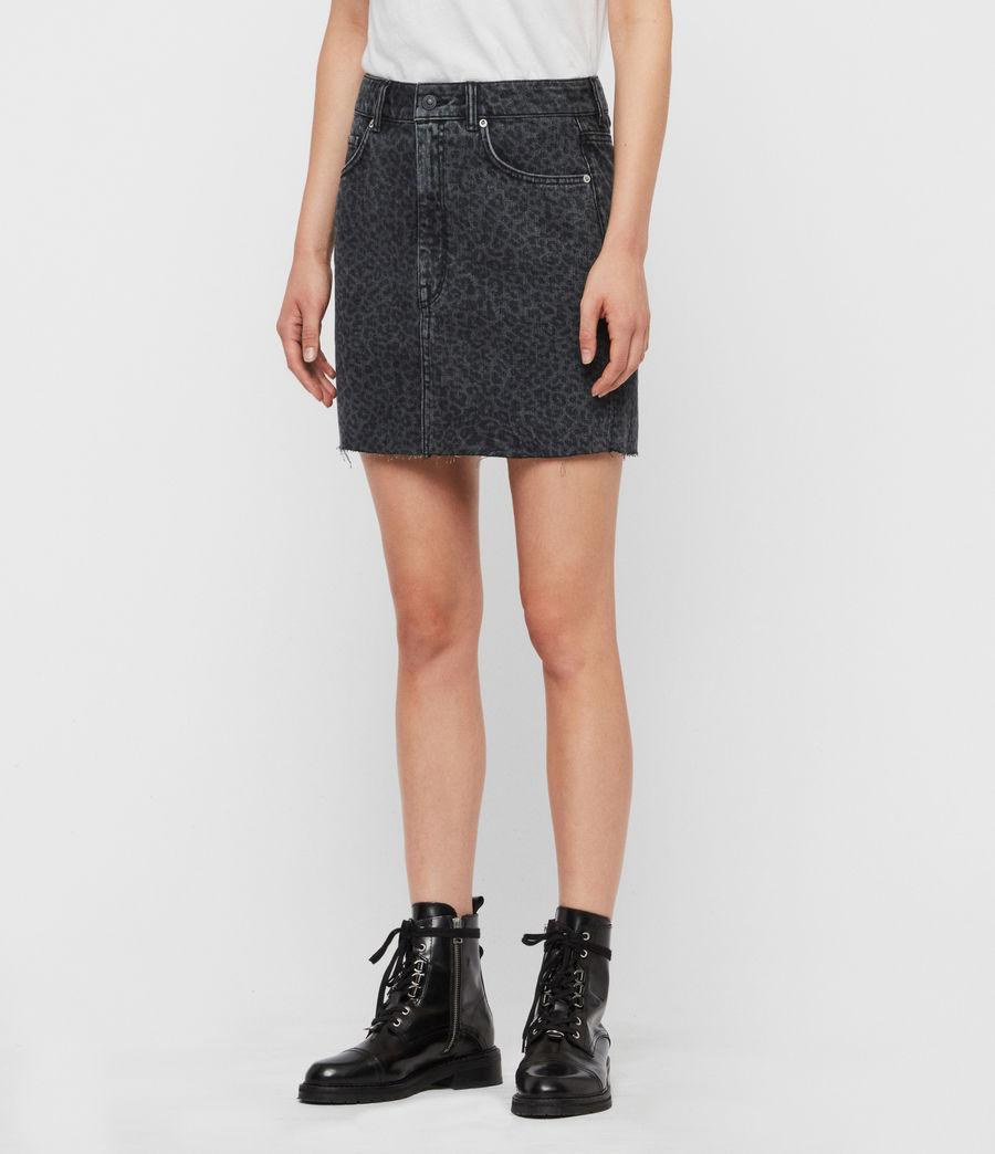 Women's Lila Leo Denim Skirt (washed_black) - Image 4