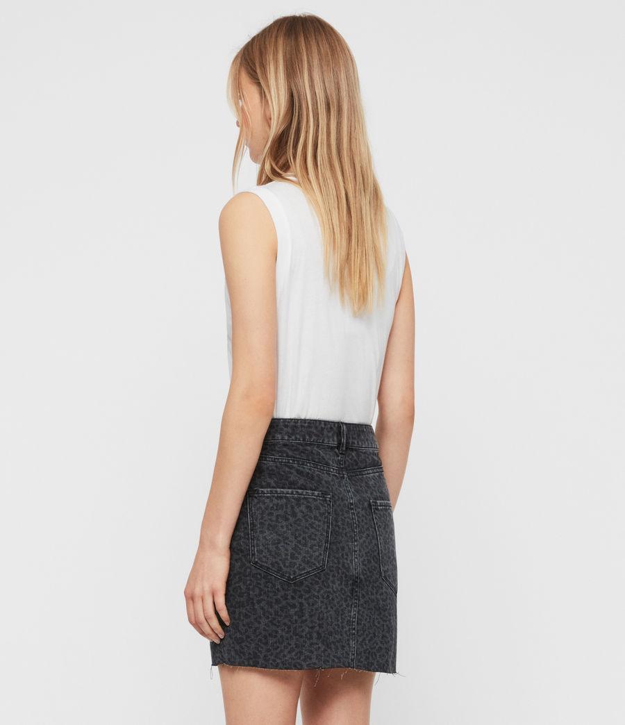 Women's Lila Leo Denim Skirt (washed_black) - Image 5