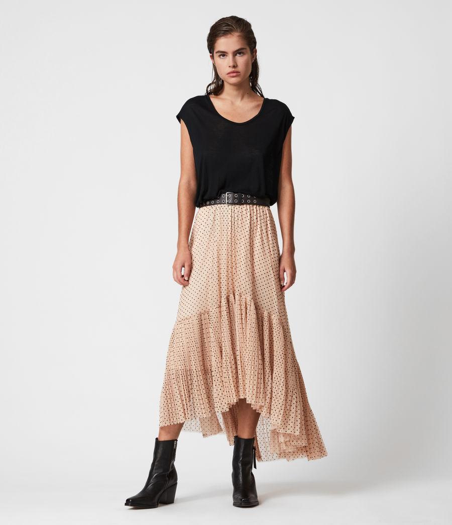 Womens Aubrey Dot Skirt (nude_pink) - Image 1