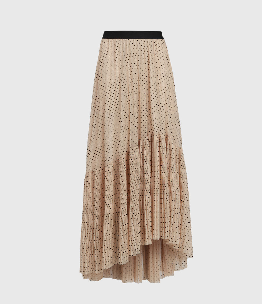 Womens Aubrey Dot Skirt (nude_pink) - Image 2