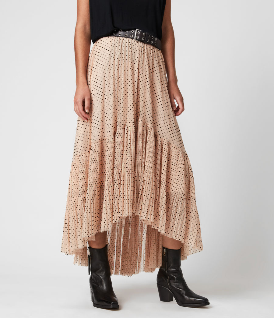 Womens Aubrey Dot Skirt (nude_pink) - Image 4