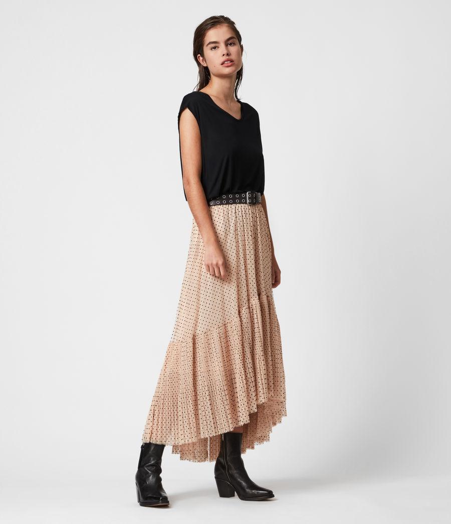 Womens Aubrey Dot Skirt (nude_pink) - Image 7