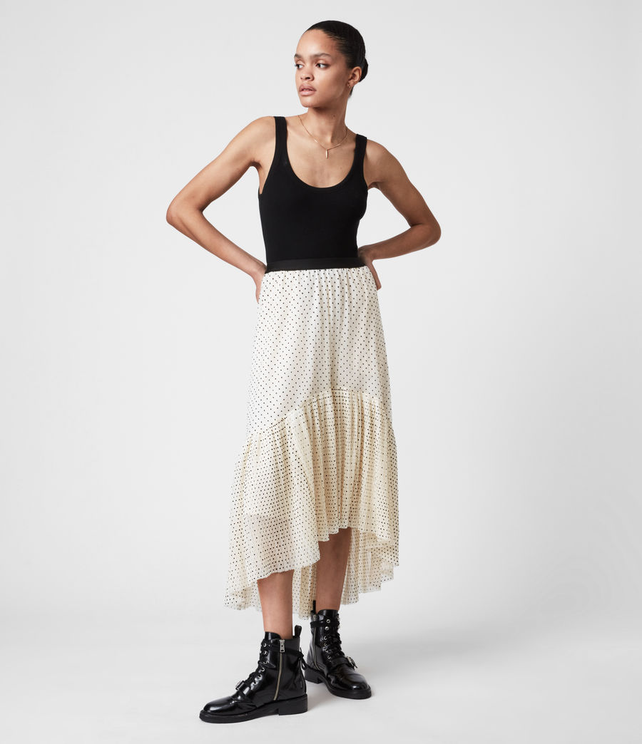 Women's Aubrey Dot Skirt (ecru_white) - Image 1