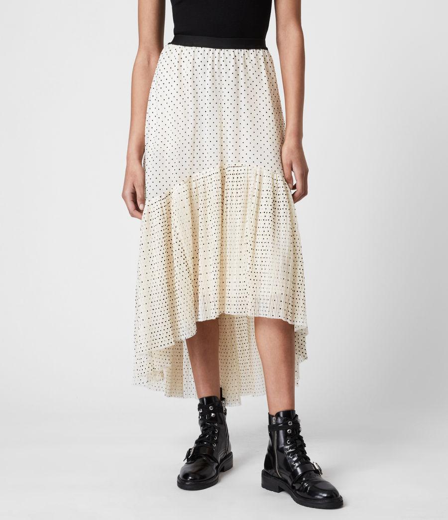 Women's Aubrey Dot Skirt (ecru_white) - Image 4