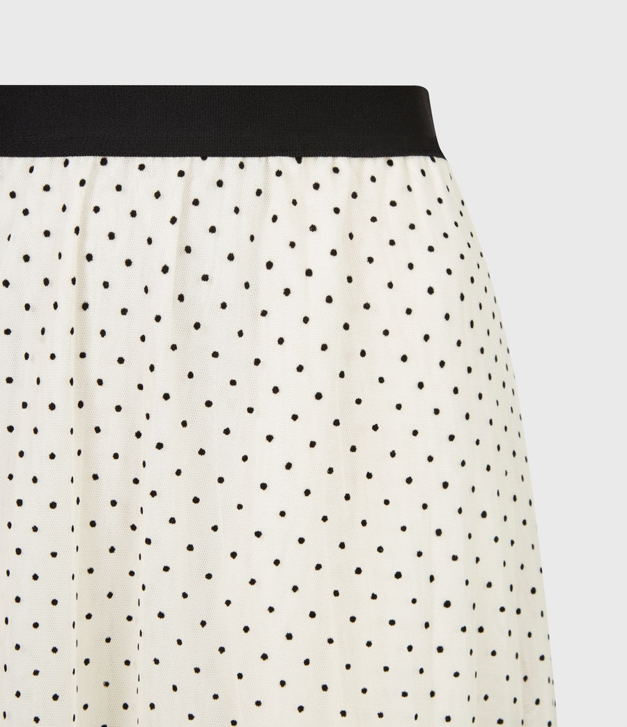 Women's Aubrey Dot Skirt (ecru_white) - Image 5
