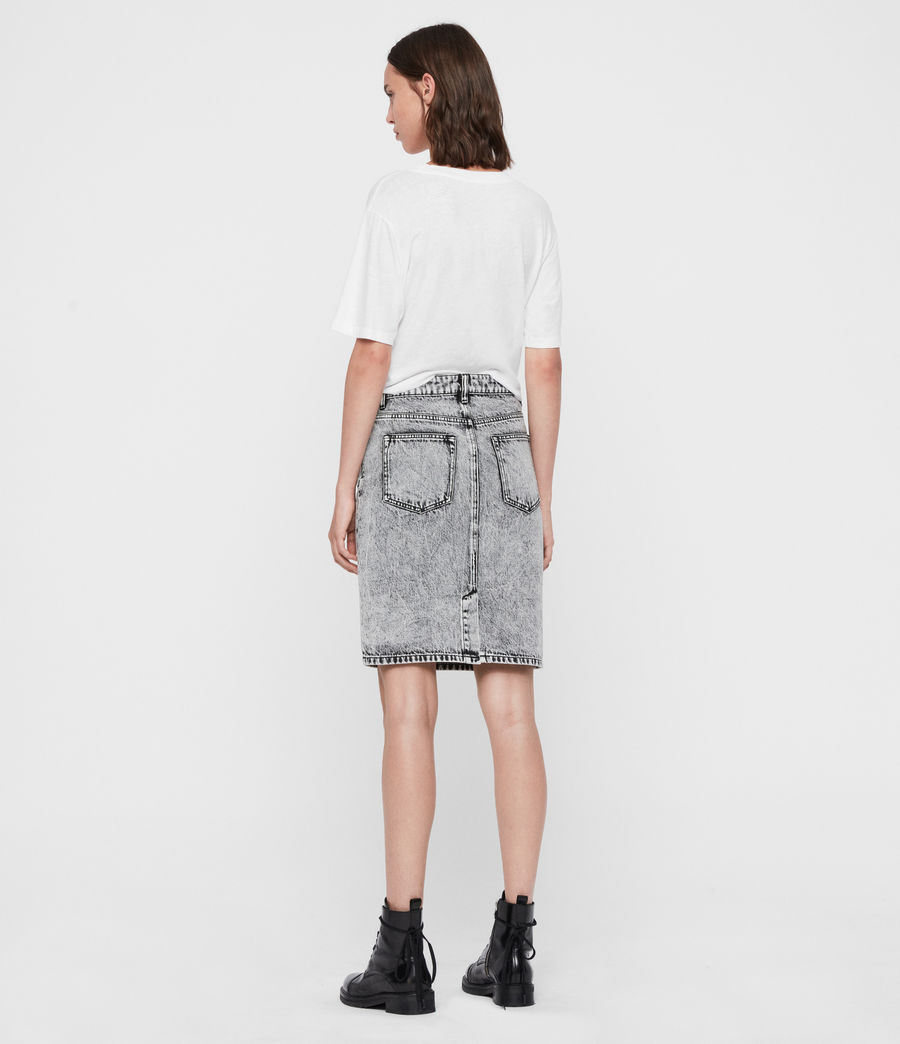 Women's Nara Denim Pencil Skirt (acid_wash_black) - Image 5