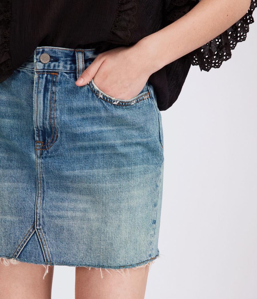 Women's Star Skirt (mid_indigo_blue) - Image 2