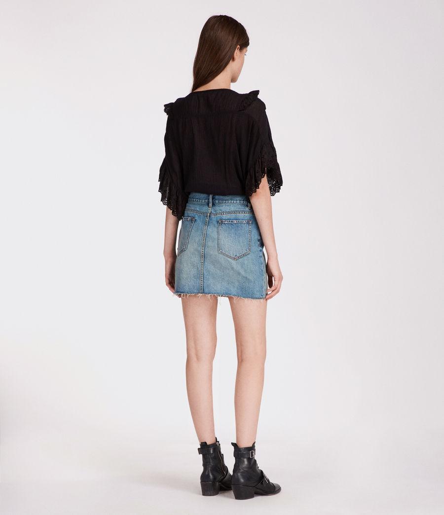 Women's Star Skirt (mid_indigo_blue) - Image 5