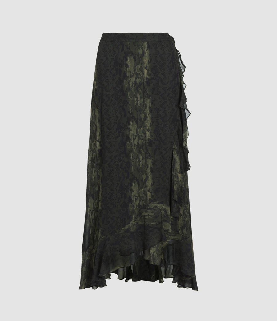 Women's Cosmo Masala Skirt (forest_green) - Image 1