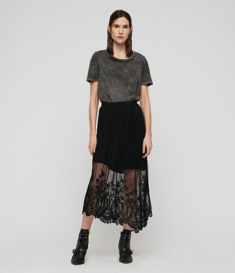 Women's Lali Ebony Long Skirt (black) - Image 1
