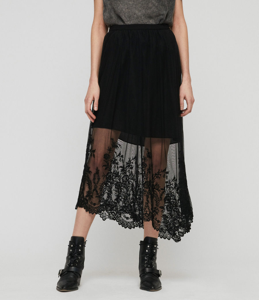 Women's Lali Ebony Long Skirt (black) - Image 2