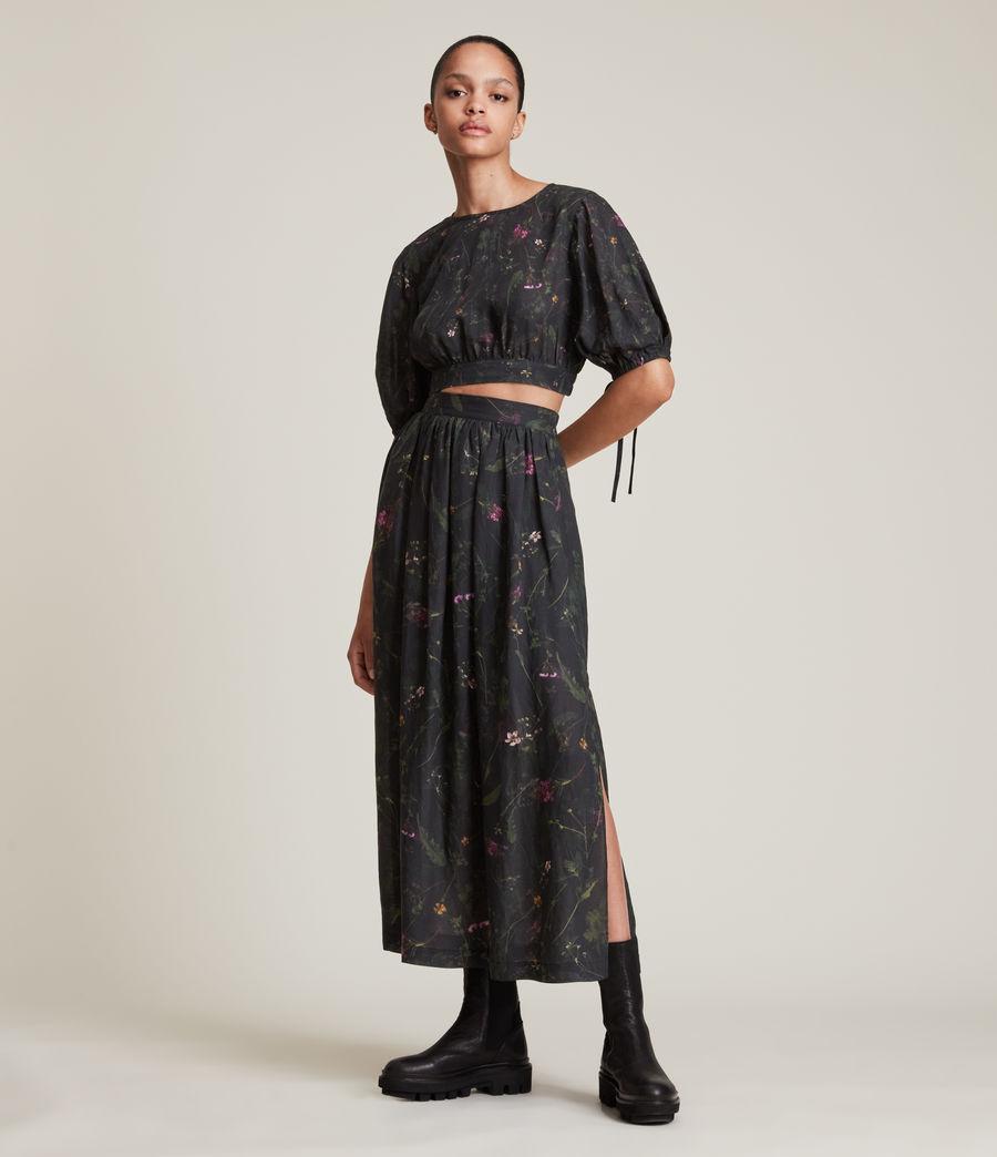Women's Asta Heligan Linen Blend Skirt (black) - Image 1