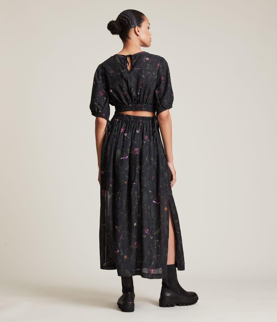 Women's Asta Heligan Linen Blend Skirt (black) - Image 3