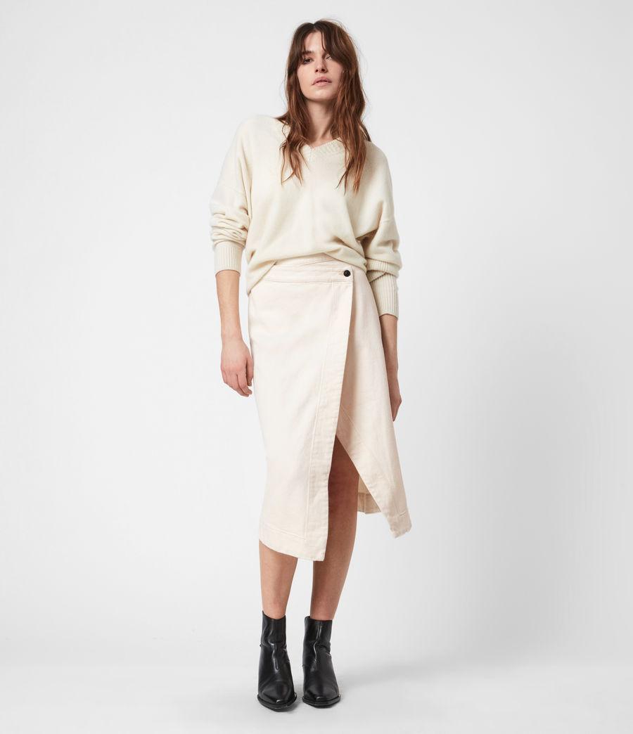 Women's Kenya Denim Skirt (natural_white) - Image 1