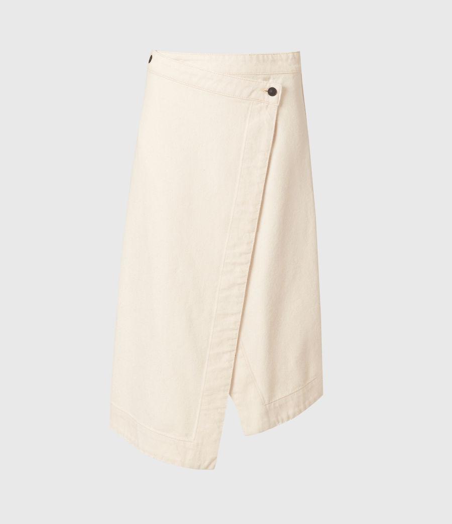 Women's Kenya Denim Skirt (natural_white) - Image 2