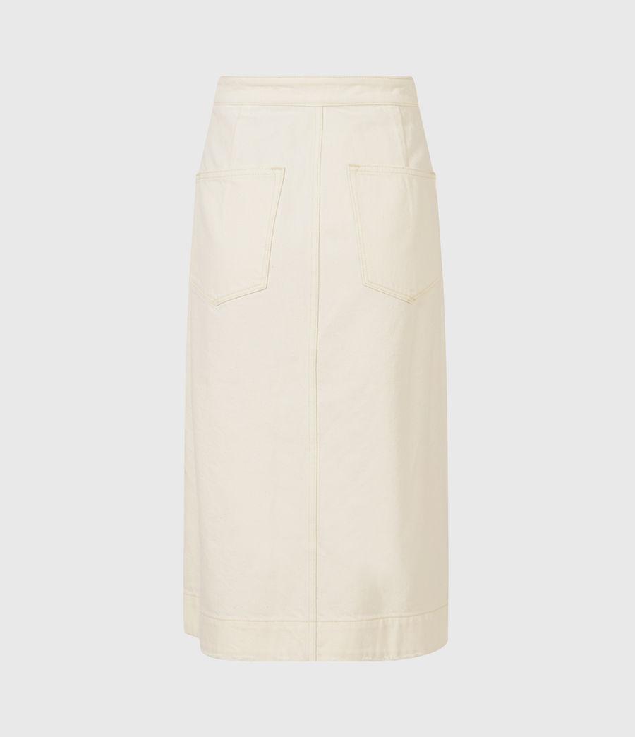 Women's Kenya Denim Skirt (natural_white) - Image 3