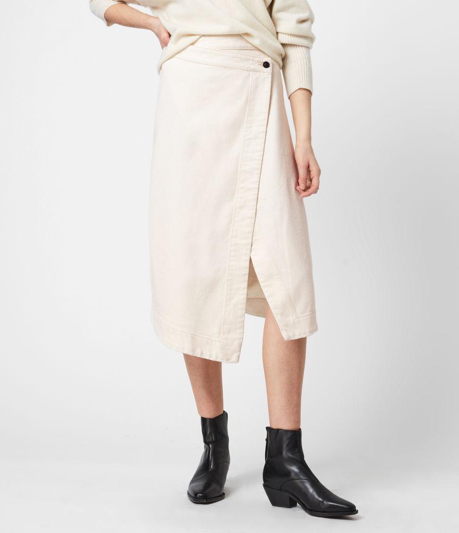 Women's Kenya Denim Skirt (natural_white) - Image 4