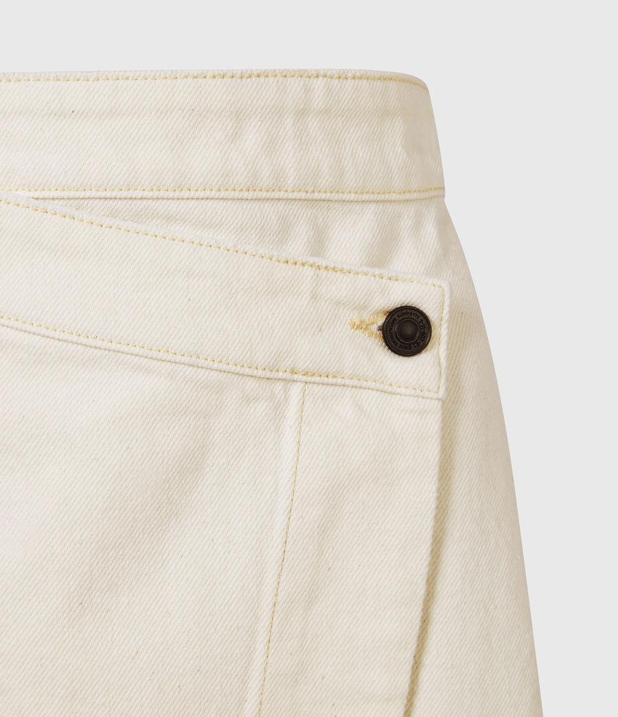 Women's Kenya Denim Skirt (natural_white) - Image 5