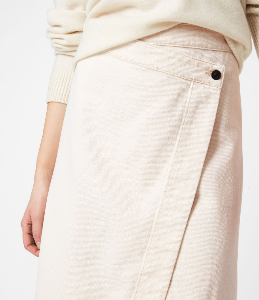 Women's Kenya Denim Skirt (natural_white) - Image 6