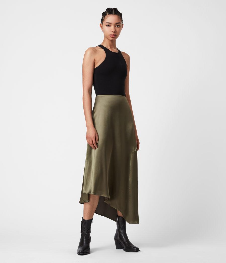 Womens Ani Skirt (olive_green) - Image 4