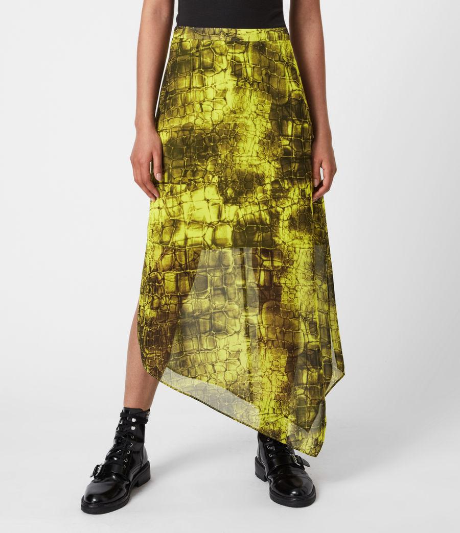 Femmes Rhea Mirus Skirt (lime_green) - Image 4