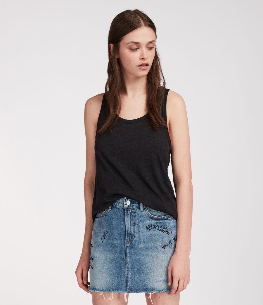Womens Graff Skirt (indigo_blue) - Image 1