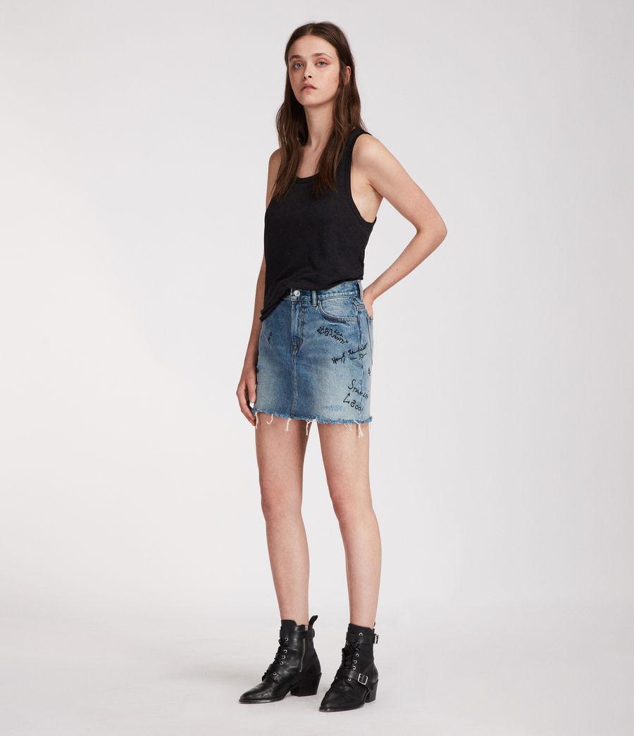 Womens Graff Skirt (indigo_blue) - Image 3