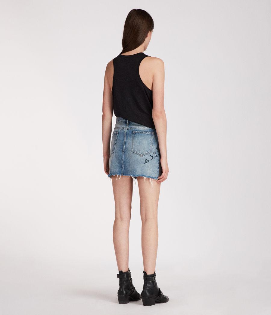 Womens Graff Skirt (indigo_blue) - Image 5