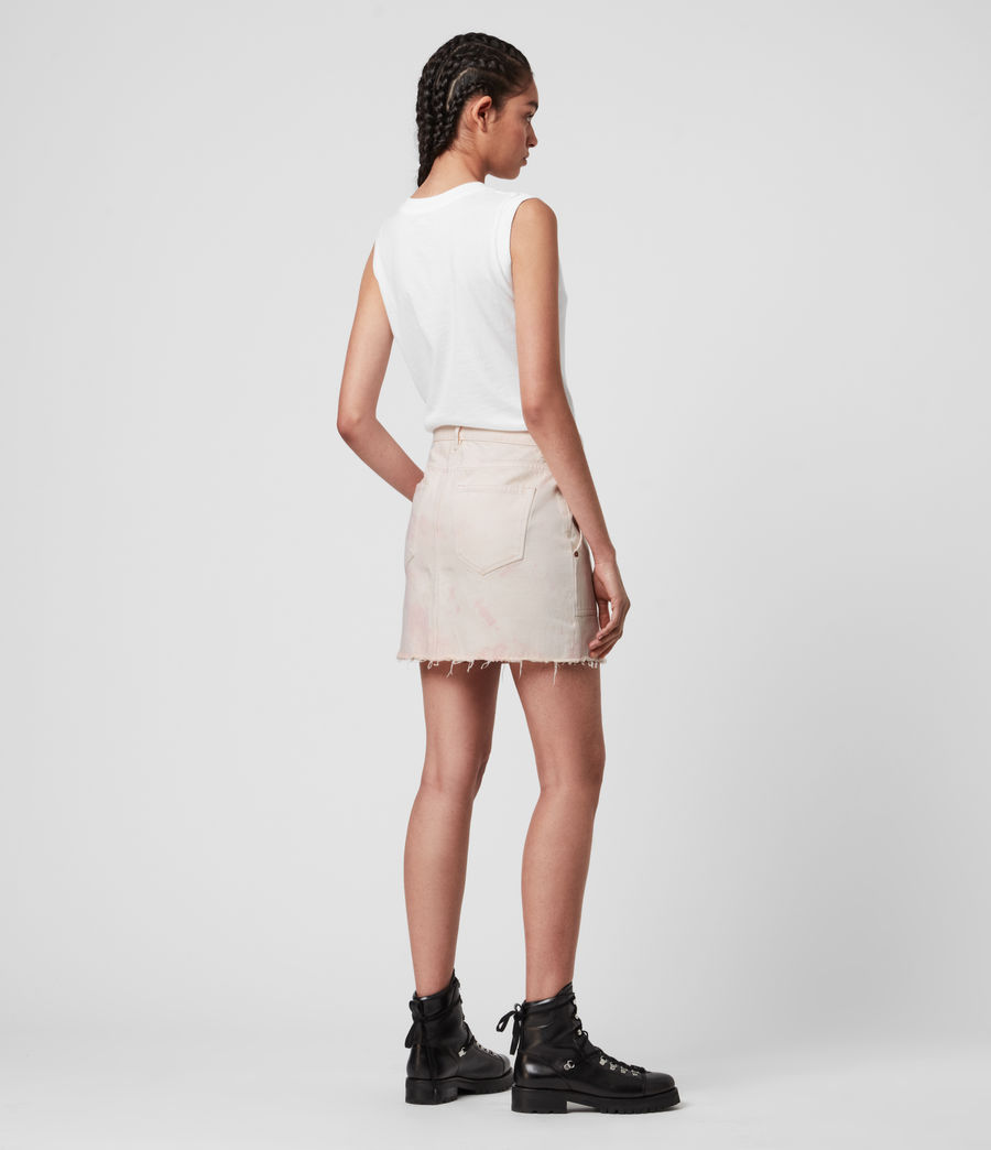 Damen Elma Dye Denim Skirt (chalk_white_pink) - Image 4