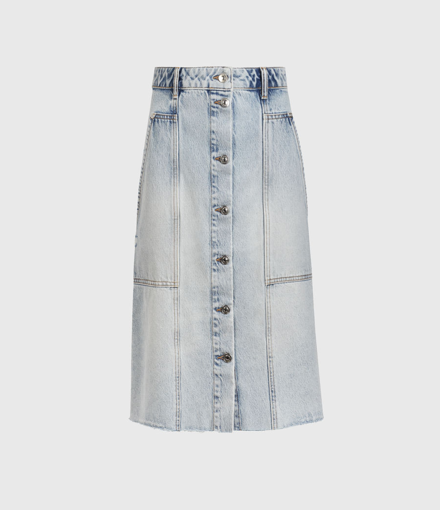 Women's Bonnie Denim Midi Skirt (indigo_blue) - Image 1