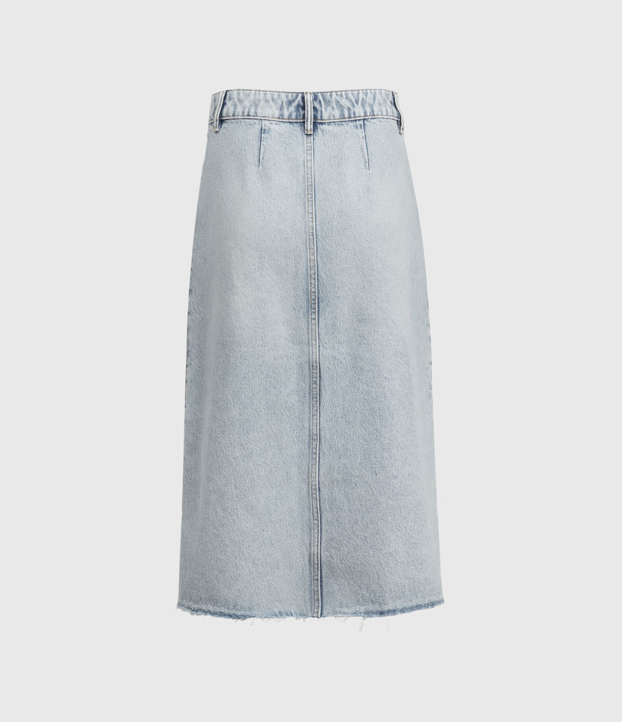 Women's Bonnie Denim Midi Skirt (indigo_blue) - Image 2