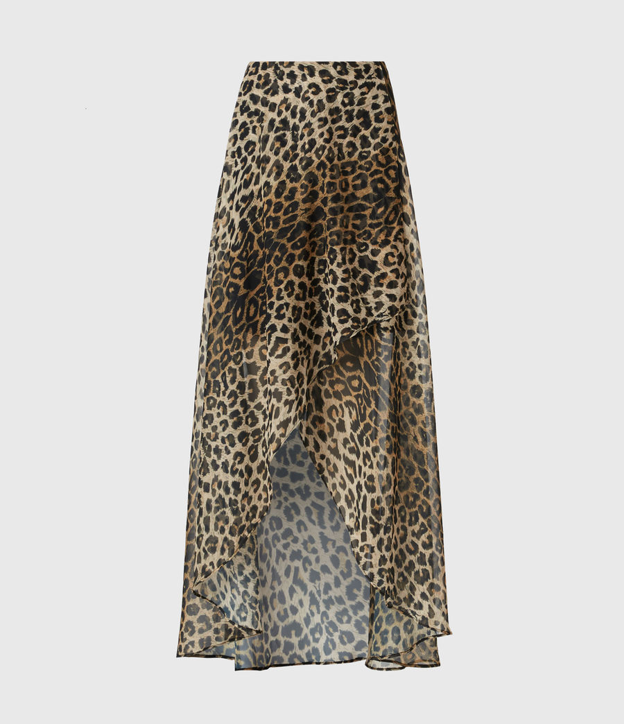 Womens Slivina Leppo Skirt (leopard_yellow) - Image 2