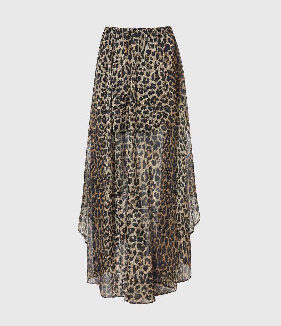 Womens Slivina Leppo Skirt (leopard_yellow) - Image 3