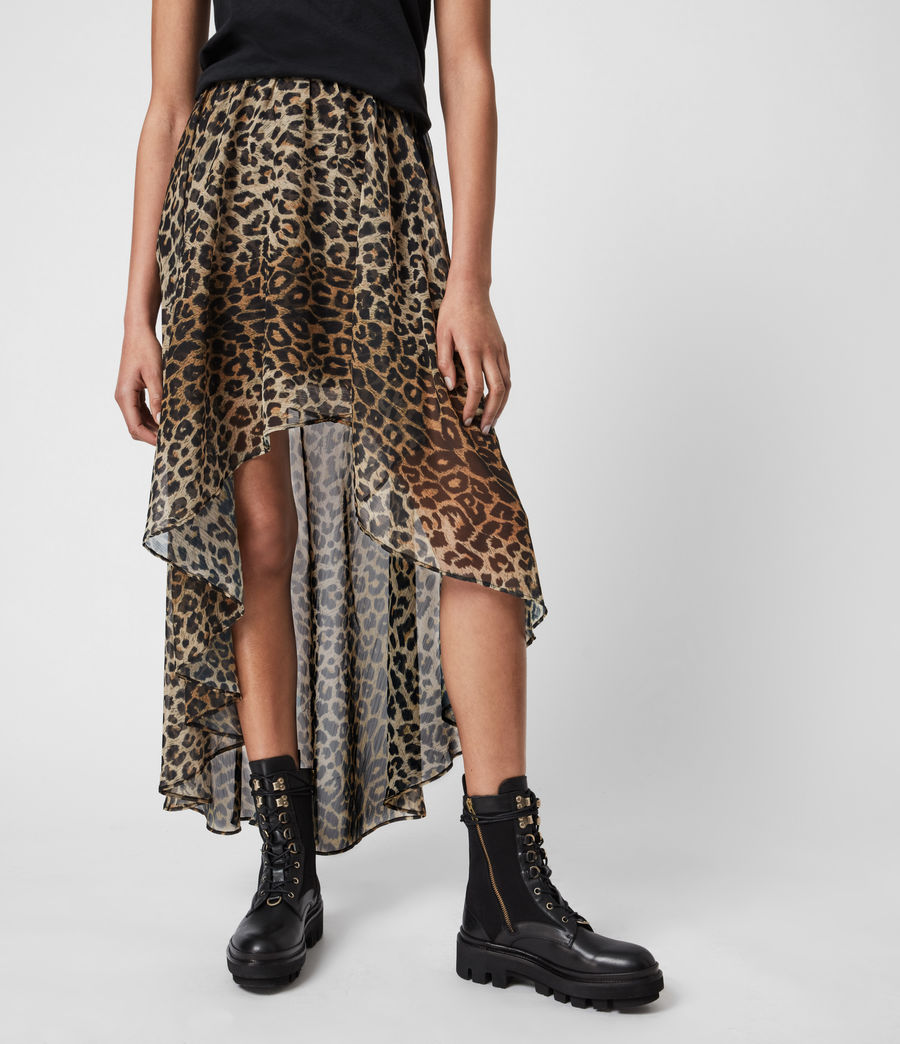 Womens Slivina Leppo Skirt (leopard_yellow) - Image 4
