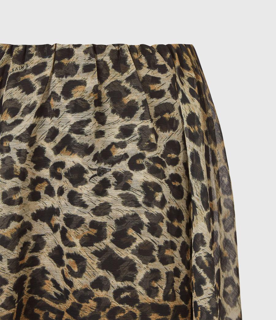 Womens Slivina Leppo Skirt (leopard_yellow) - Image 5
