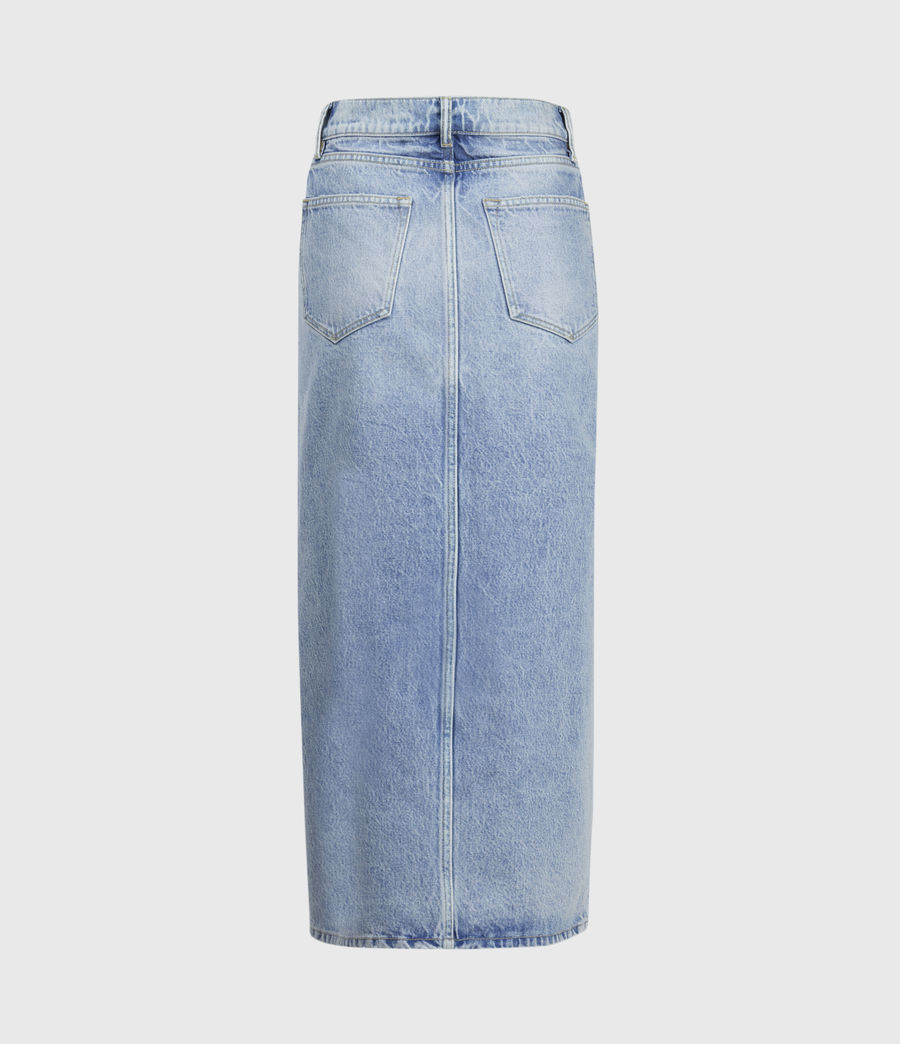 Womens Dottie Denim Maxi Skirt (indigo_blue) - Image 3