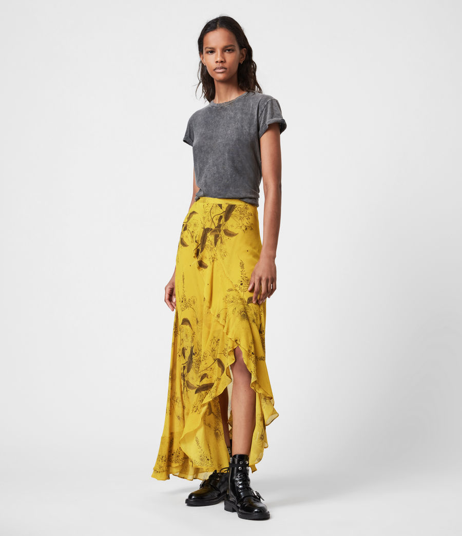 Women's Raya Demoir Skirt (garden_olive) - Image 1