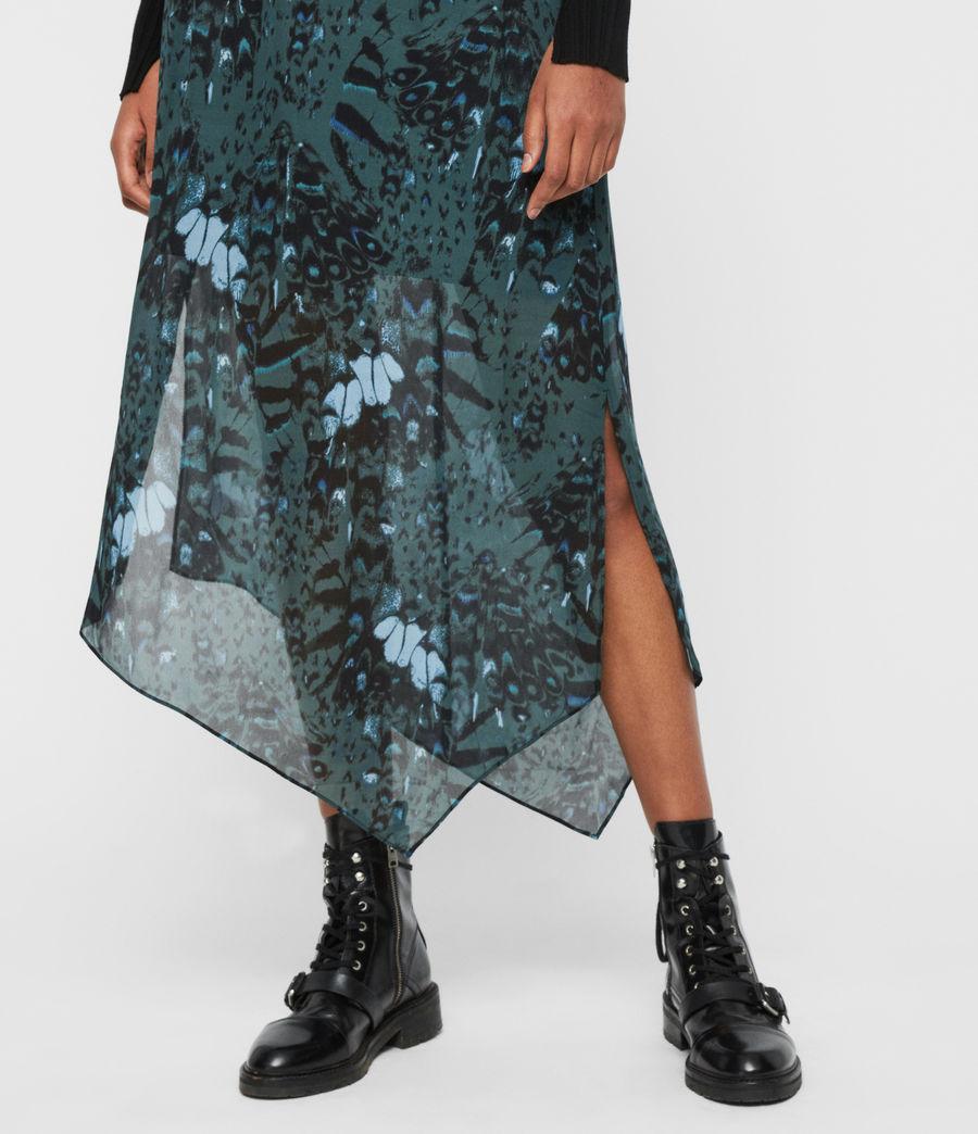Femmes Jupe Maxi Asymétrique Rhea Wing (opal_green) - Image 4